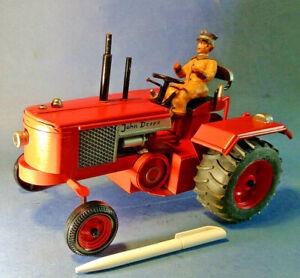 JOHN DEERE GROß HANDMUSTER+Blech-Traktor,Bulldog,LANZ,Modellbau,28cm EINZELSTÜCK
