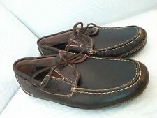 Lightly Worn Mens Minnetonka Moccasin Driving Shoes Brown Leather US sz 8