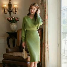 Jersey Long Sleeve Green Dresses for Women