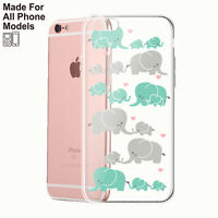 Elephants TPU Phone Case iPhone 11 pro max 8 7 Plus 6 XS Galaxy S10 S9 note 10 9