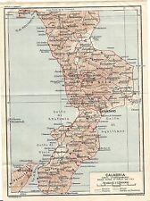 Cartina Geografica Cosenza E Provincia.Carta Geografica Calabria Acquisti Online Su Ebay