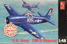 Hobby Craft 1:48 US Navy F8F-2 Bearcat Triple Play Plastic Model Kit #HC1443