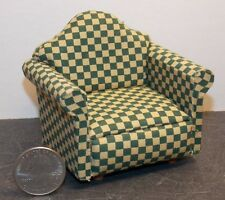 Dollhouse Miniature Living Room Chair Green 1:12 inch scale D80 Dollys Gallery