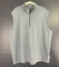 MAIDE by Bonobos Mens Active Golf Vest Charcoal Gray 1/4 Zip, Size XL, $128