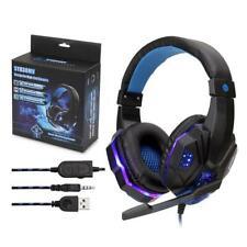Gaming Headphones Light Mic Stereo Earphones Bass for PC Computer NewX BOX SONY