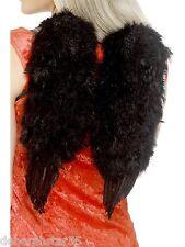 Smiffys Black Feather Angel Wings Halloween Fancy Dress Costume 30x40cm One Size