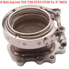 """8 Bolt Garrett T25 T28 GT25 GT28 To 3"""" 304S V-Band Downpipe Flange Clamp Adapter"""