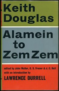 Keith Douglas: Alamein to Zem Zem, Faber 1966 (Condition Fine+, HB, wrappers)