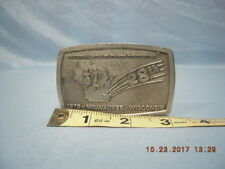 Convention Milwaukee Wi, made in Usa Belt Buckle, 28th National Square Dance