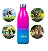 1L Stainless Steel Water Drink Bottle Insulated Double Wall Hot/Cold Hiking Yoga
