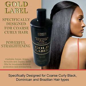 GOLD Label Keratin Blowout Treatment 240ml for Dominican & African Hair US Made