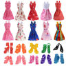 10 Pack Doll Clothes Party Gown Outfits With 10 Pairs Doll Shoes Set