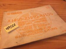 Yamaha XJ 400 500 550 1983 4V7 4V8 5N4 supplement revue technique manuel atelier