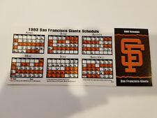 San Francisco Giants 1993 MLB Baseball Pocket Schedule - Coca Cola