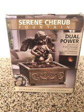 Zen Tranquility Fountains Serene Cherub Dual Power New In Box