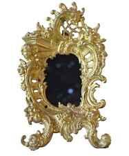 Antique French Decorative Rococo Ormolu Bronze Photo Picture Frame 19th.c n°2