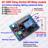AC 220V 230V Adjustable Delay Timer Time Module Timing Relay Turn ON/OFF Switch