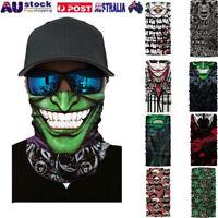 Cycling Motorcycle Head Scarf Neck Warmer Face Mask Ski Balaclava Headband AU