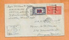 WORLD WAR II MILITARY MAIL APO 986 CENSORED 1944