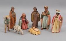 Antique Carved Wood GG Land Sel Erben Oberammergan German Nativity Creche, NR
