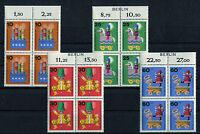 Berlin 412 - 415 VB postfrisch mit Zudruck Viererblöcke 1971 MNH