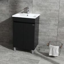 Bathroom Vanity Black Set Sink Cabinet 500mm L Hand Wash Tap Faucet  Storage