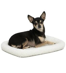 """Midwest Bolster Pet Bed - Ideal For 18"""" Metal Crate - 18x12 - Machine Wash & Dry"""