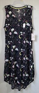 Secret Treasures womens nightgown size L 12-14 grey sleeveless midi length new
