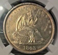 1843  Liberty Seated Half  NGC AU details