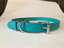 "Sparky PetCo 3/4"" Teal Biothane Replacement Square Buckle Dog Collar for Garmin"