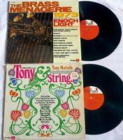 2 LP LOT Enoch Light BRASS MENAGERIE 1973 + Tony Mottola STRINGS gatefold SHRINK