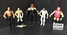 Lot Of 5 WWE ELITE Action Figures~KANE*Shawn Michaels*CESARO*Seth Rollins*ROCK