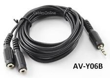 6ft 3.5mm Stereo Headphone Audio Splitter Cable, M/2 F
