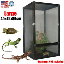 Large Tank Cage Reptile Pet Enclosure Lizard Spider Snake Tortoise Mesh Screen