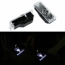 2X Welcome Courtesy LED Door Light Projector Logo For MASERATI GHIBLI 2014-2018.