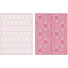 LIFESTYLE CRAFTS QUICKUTZ LACE GOOSEBUMPZ EMBOSSING FOLDERS  EF0037  A2