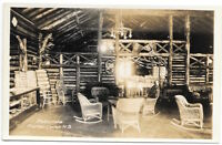 Real Photo Postcard Rotunda at Pictou Lodge, N.S. Canada~103914