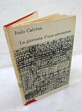 Italo Calvino,LA GIORNATA D'UNO SCRUTATORE,1963 Einaudi Coralli,prima edizione