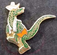 Enamel Gold Tone Alligator Tie Tack Lapel Pin (JN109)