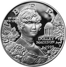 USA 1 Dollar Silber 1999 PP Silbermünze First Lady Dolley Madison