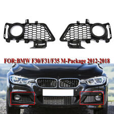 2PCS M Package Front Bumper Fog Light Grills for BMW 3 Series F30 F31 2012-2018