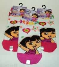 3 Pair DORA THE EXPLORER Socks Size 6-8 Shoe Size 10.5-4 NWT