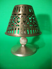 UNUSUAL 2 PIECE CUT-OUT PATTERN LAMP SHADE SHAPE TEA LIGHT CANDLE HOLDER
