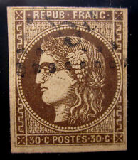 FRANCE #46a USED VERY FINE FAULT FREE BLACKISH BROWN SHADE CAT.$575