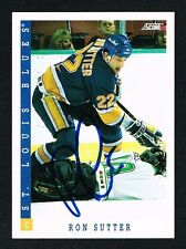 Ron Sutter #39 signed autograph auto 1993-94 Score Hockey Trading Card