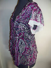 Womens PRINTED TOP / BLOUSE - New - size 8