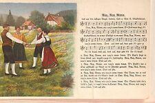 17965 Lied AK Verlag Mückenberger Plauen Ritz Ratz Nimm mit Trachten um 1915