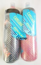 CamelBak Podium - Chill - Bike Water Bottle 2 Pack Black and Pink - 610ml / 21oz