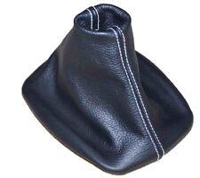Cuffia Leva Cambio Per Volkswagen Golf 4 1997-2003 Pelle Cuciture Bianco