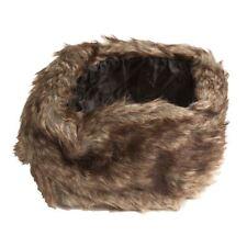 Ladies Winter Warm Faux Fur Headband in Beige Mix